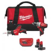 Milwaukee C12PP2C-32B M12 Li-Ion 2 Piece Powerpack Kit (2 Batteries)